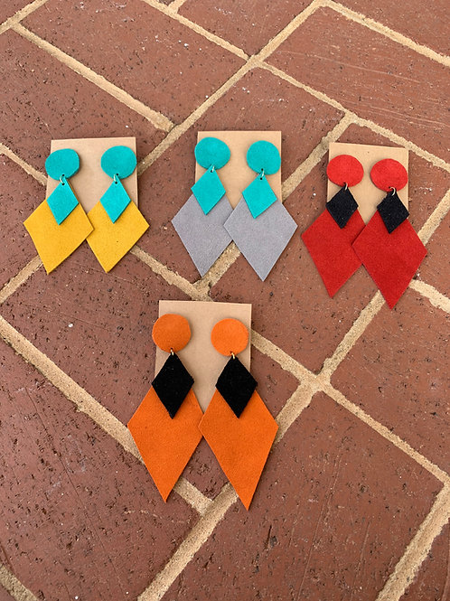 Designer Suede Earrings