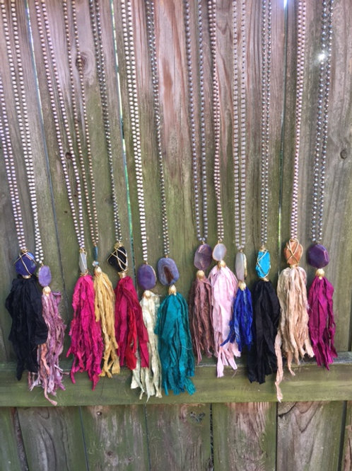 Chic Gal Tassel Necklaces (Color Options Available)
