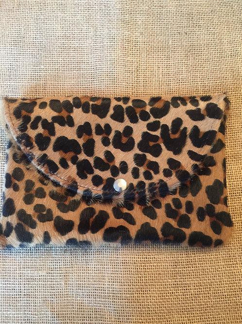 Cheetah Hide Clutch