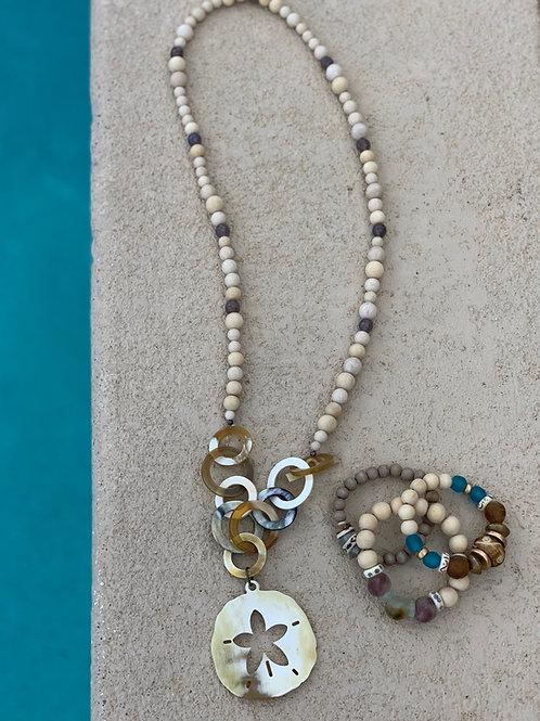 "Beach Babe (OPEN) ""Sand Dollar"" Necklace"