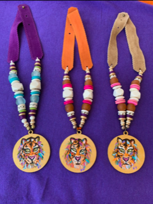 Live in Color Tiger Pendant Necklace
