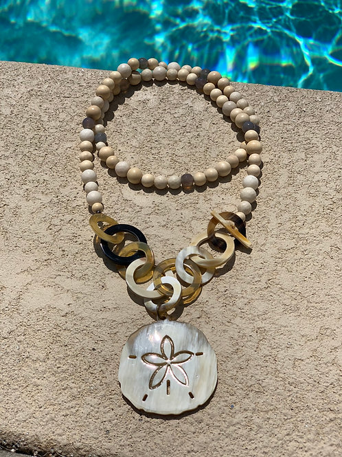 Beach Babe Sand Dollar Necklace