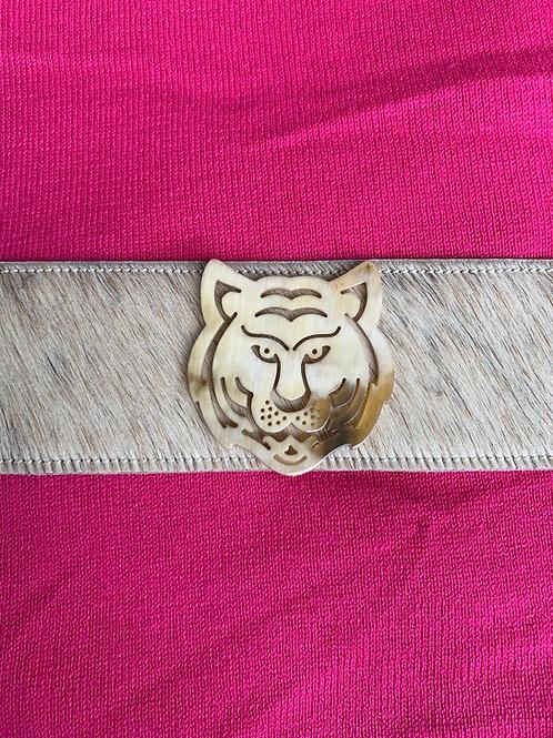 Light Blonde Hide Tiger Cuff