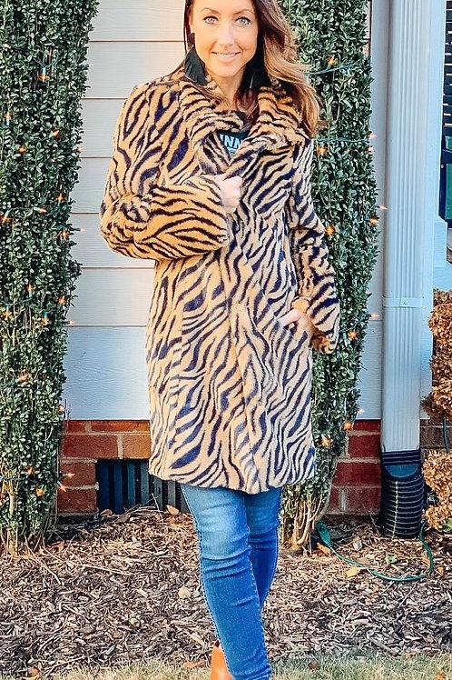 Fan Favorite Tiger Fur Coat