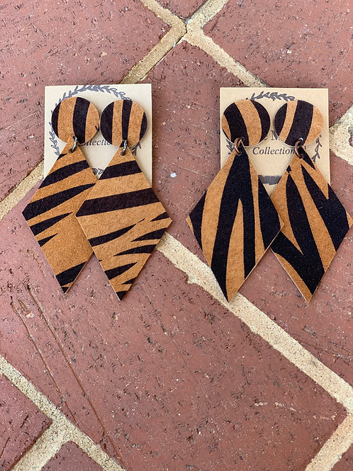 Tiger Print Gameday Earring