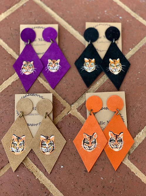 Pawthentic Handpainted Tiger Earrings