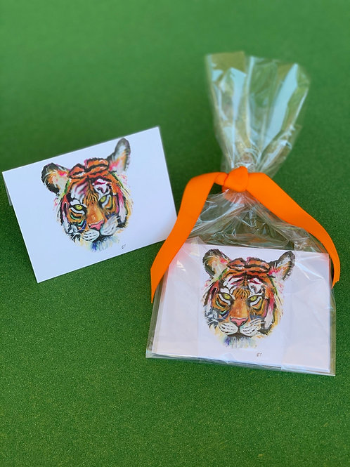 Live Colorfully Tiger Notecards