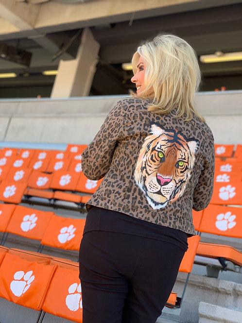 Cheetah Handpainted Tiger Jacket