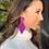 Thumbnail: Designer Suede Earrings (Diamonds)
