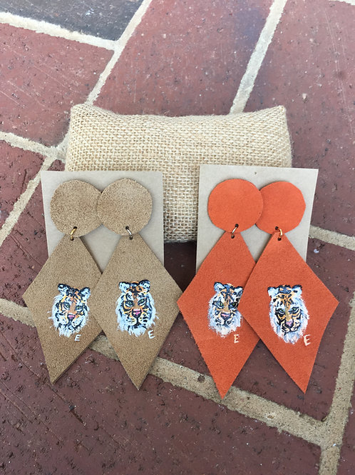 PAWthentic Handpainted Tiger Earrings
