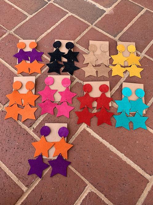 Designer Suede Earrings (STARS)