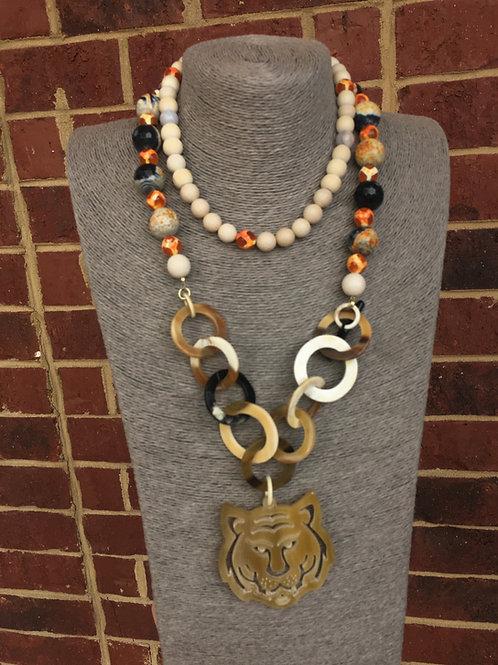 """Orange is the New Black"" Tiger Necklace"