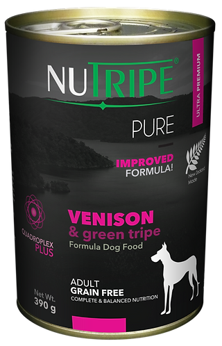 PURE VENISON & GREEN TRIPE FORMULA DOG FOOD