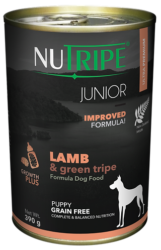 JUNIOR LAMB & GREEN TRIPE FORMULA DOG FOOD