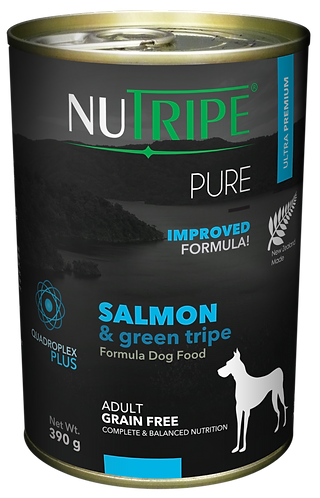 PURE SALMON & GREEN TRIPE FORMULA DOG FOOD