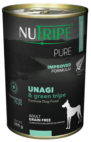 PURE UNAGI & GREEN TRIPE FORMULA DOG FOOD