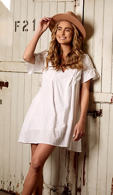 a comfy cool white dress from Australia collection