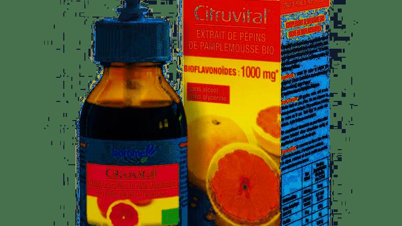 Citruvital. Extrait de pépins de pamplemousse Bio- 50 ml. La Drôme Laborat