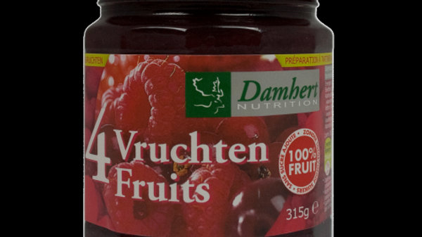 CONFITURE   PUR  4 FRUITS  ALLEGES- 315G- DAMHERT
