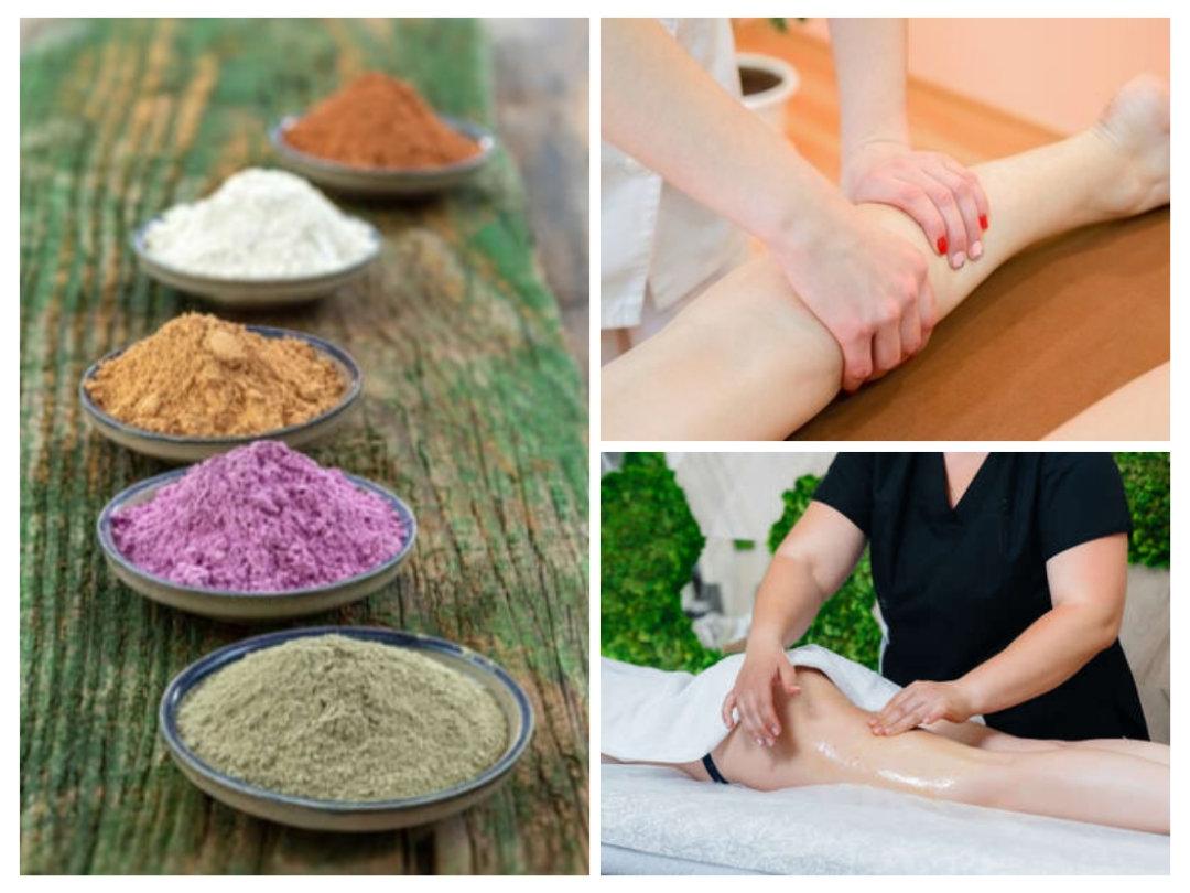 Massage Détox Gommage - Bas du corps