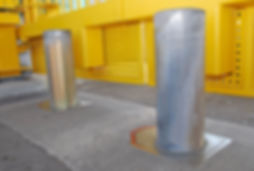 Installation of Dynasystems Zinc Finish Bollards