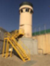 Blast Resistant 7m Dynatower on top of pedestal