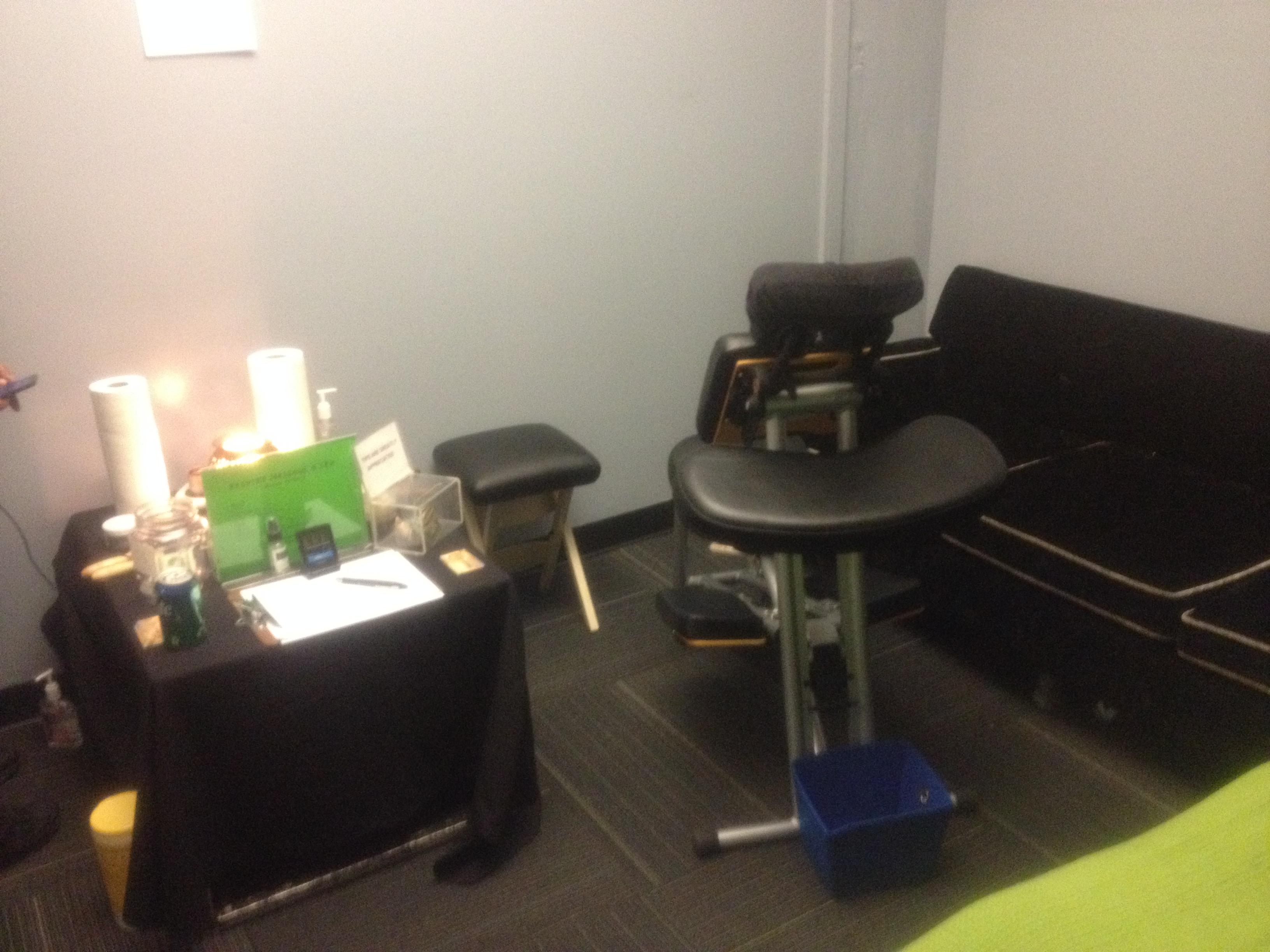 Backstage chair massage