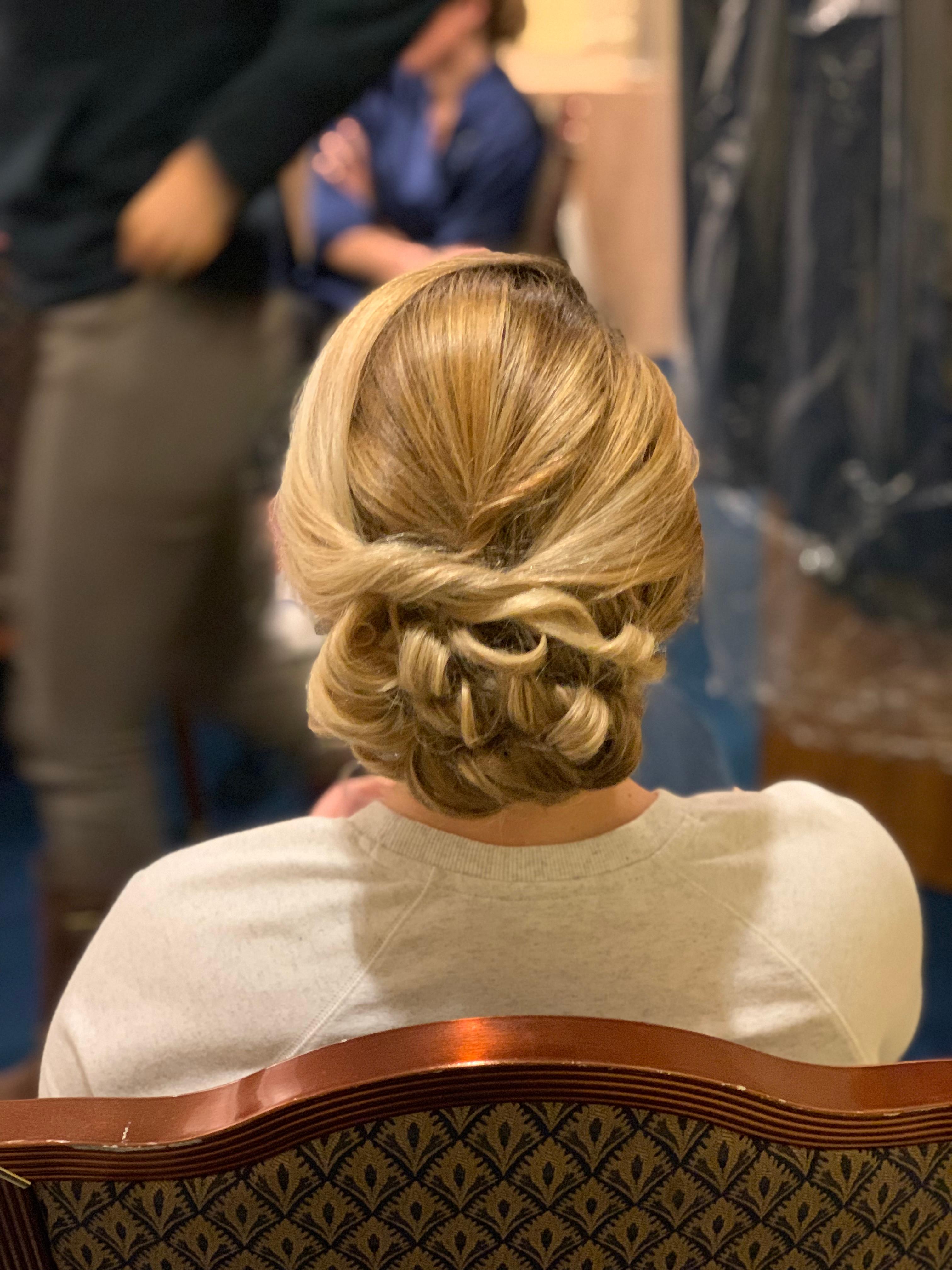 Brides wedding day Hair