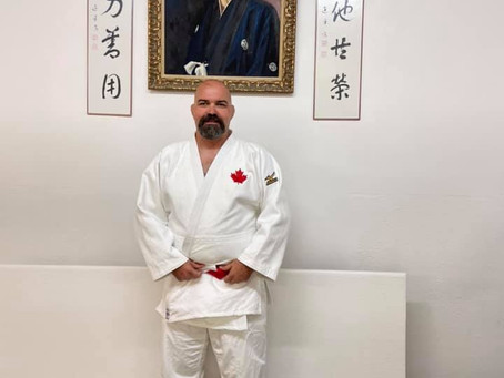 First Canadian VI Judoka to be promoted to Rokudan.