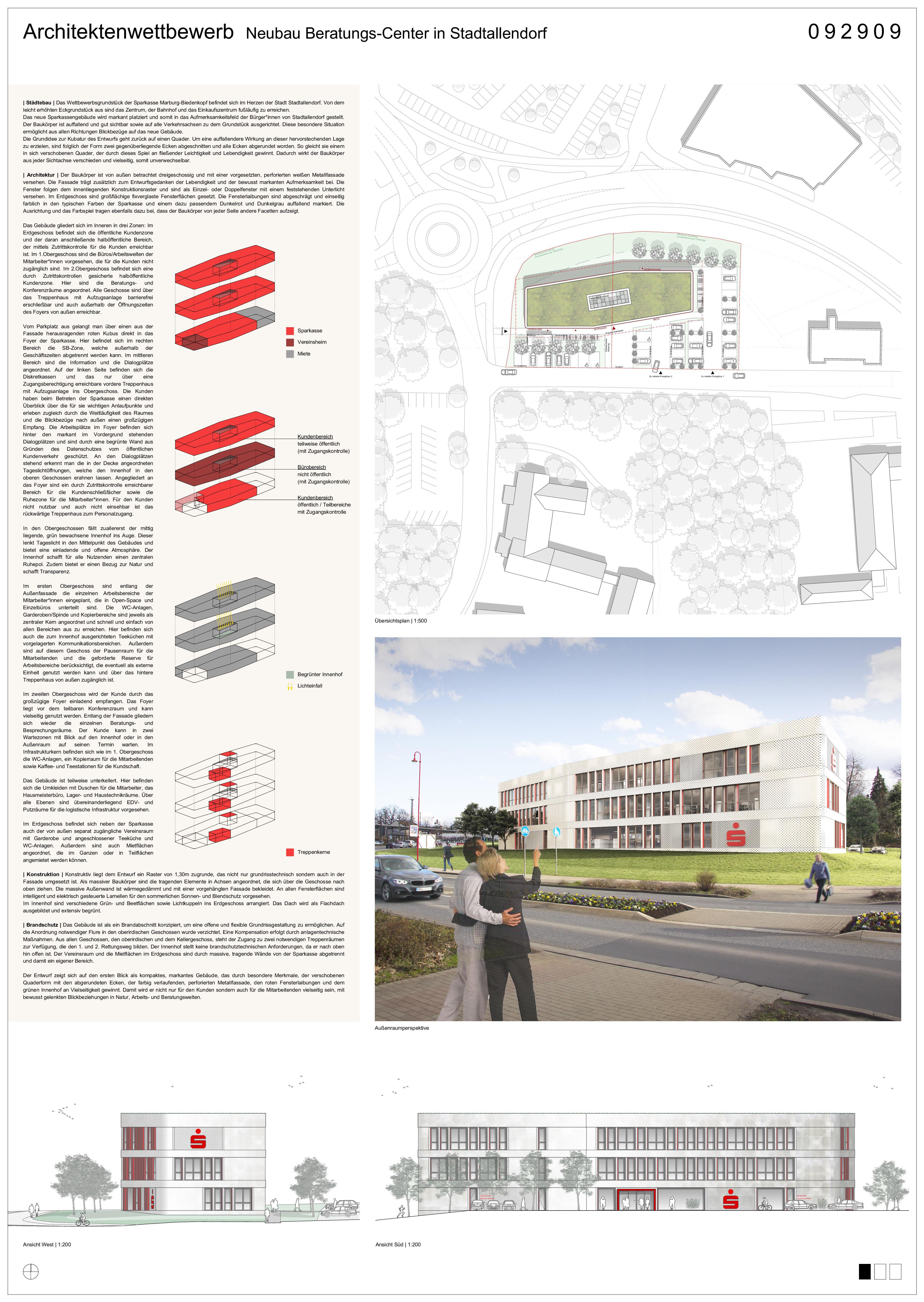Wettbewerb Beratungs-Center Stadtallendorf, Sparkasse