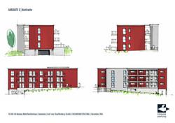 Fassadenstudie: Wohnhaus Graf-von-Stauffenberg-Straße in Marburg