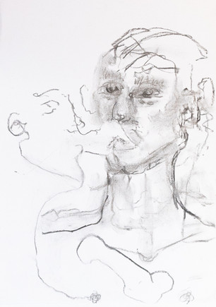 Blind folded drawings