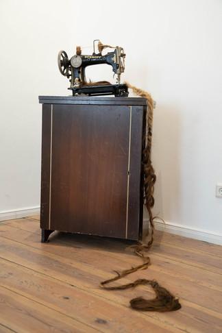 'Rapunzel' sewing machine_hair