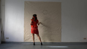 Blindfolded drawing