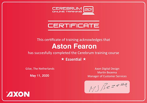 Aston Fearon- Axon Cerebrum Certificate.