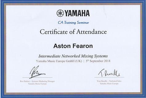 Aston Fearon- Yamaha Intermediate Networ