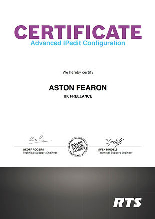 Aston Fearon- RTS Intercom IPedit Config