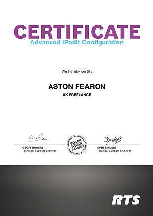 Aston Fearon- RTS Intercom IPedit Config