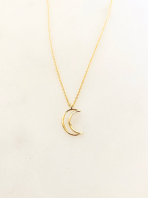 Collier Luna, Doré à l'or fin