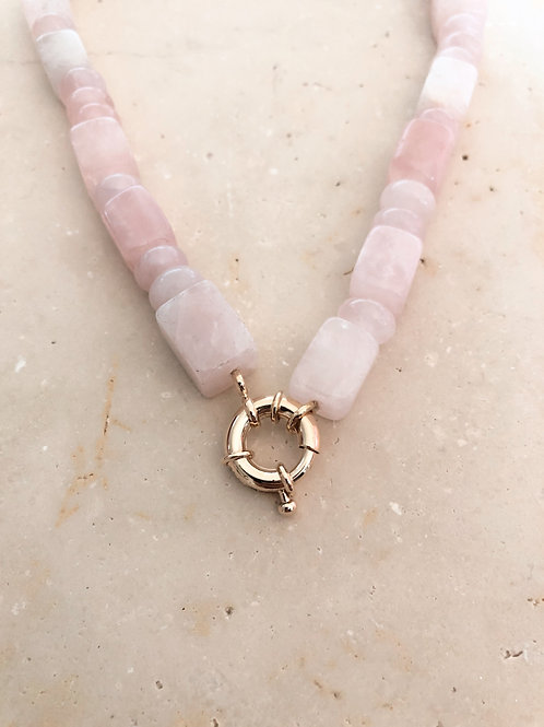 Collier Amour, Quartz rose
