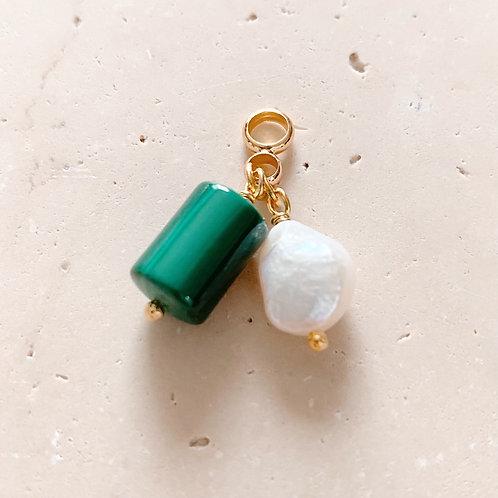 Pendentif Malachite et Perle