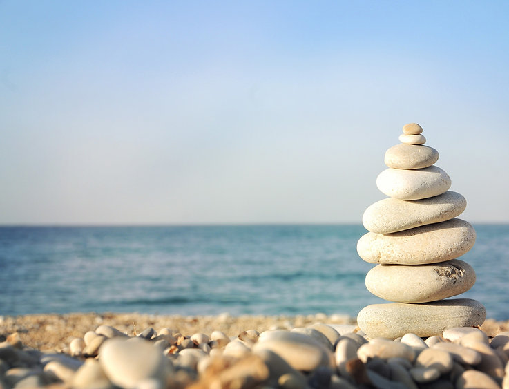 CROPPED Pyramid of stones for meditation