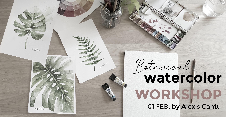 Botanical watercolor workshop Utrecht