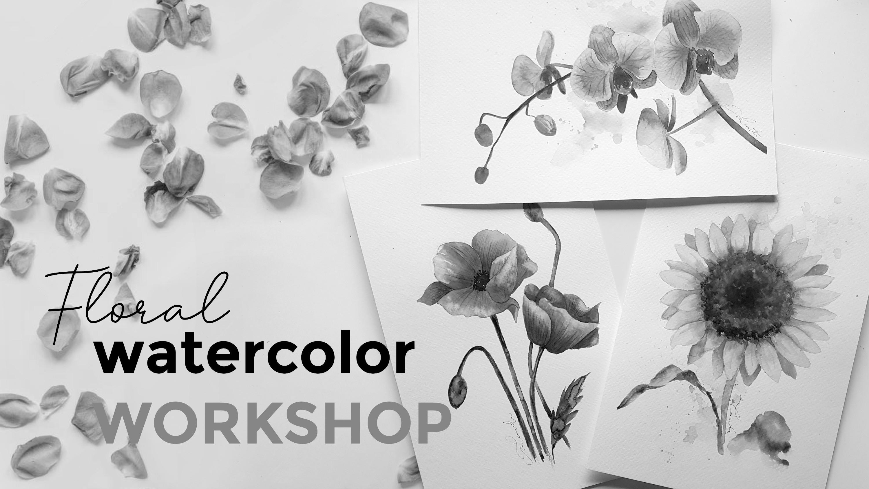 Floral watercolor workshop Utrecht