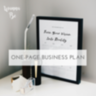 Wanna Be One Page Business Plan
