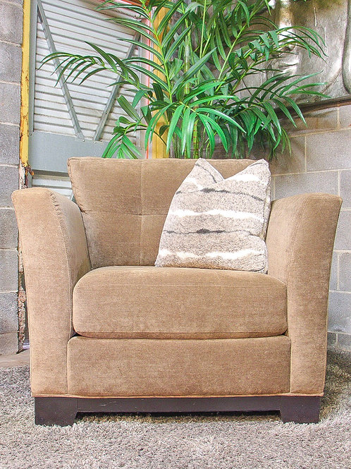 Reversible Tufted Brown Accent Chair
