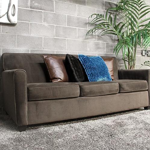 Brown 3-Seater Sofa