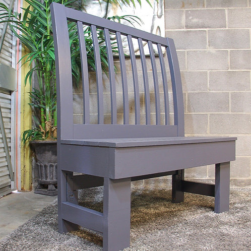 Gray Wood Bench