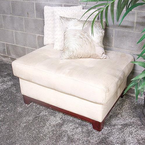 Beige Ottoman and Decorative Pillow Set