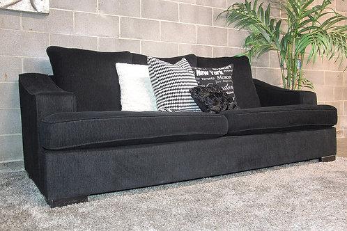 Oversized Black Sofa